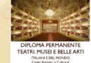 """DIPLOMA  permanente """"TEATRI MUSEI e BELLE ARTI"""""""